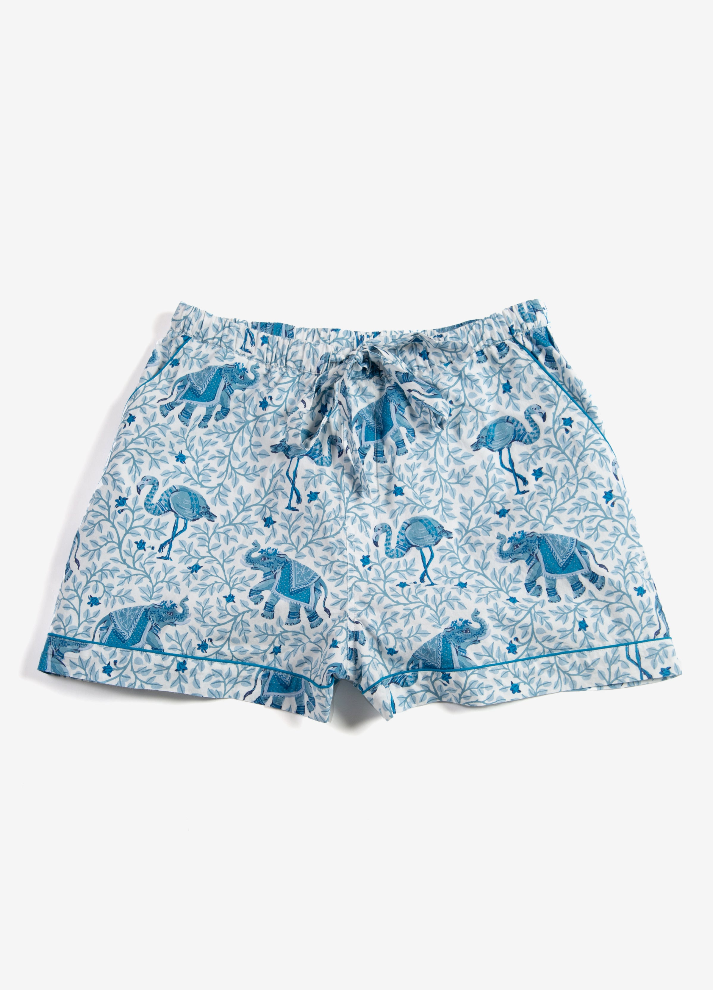 Flamenco - Pajama Shorts - Pale Blue