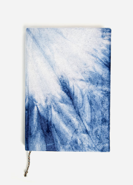NEW! Indigo Burst Tie Dye Slim Velvet Journal