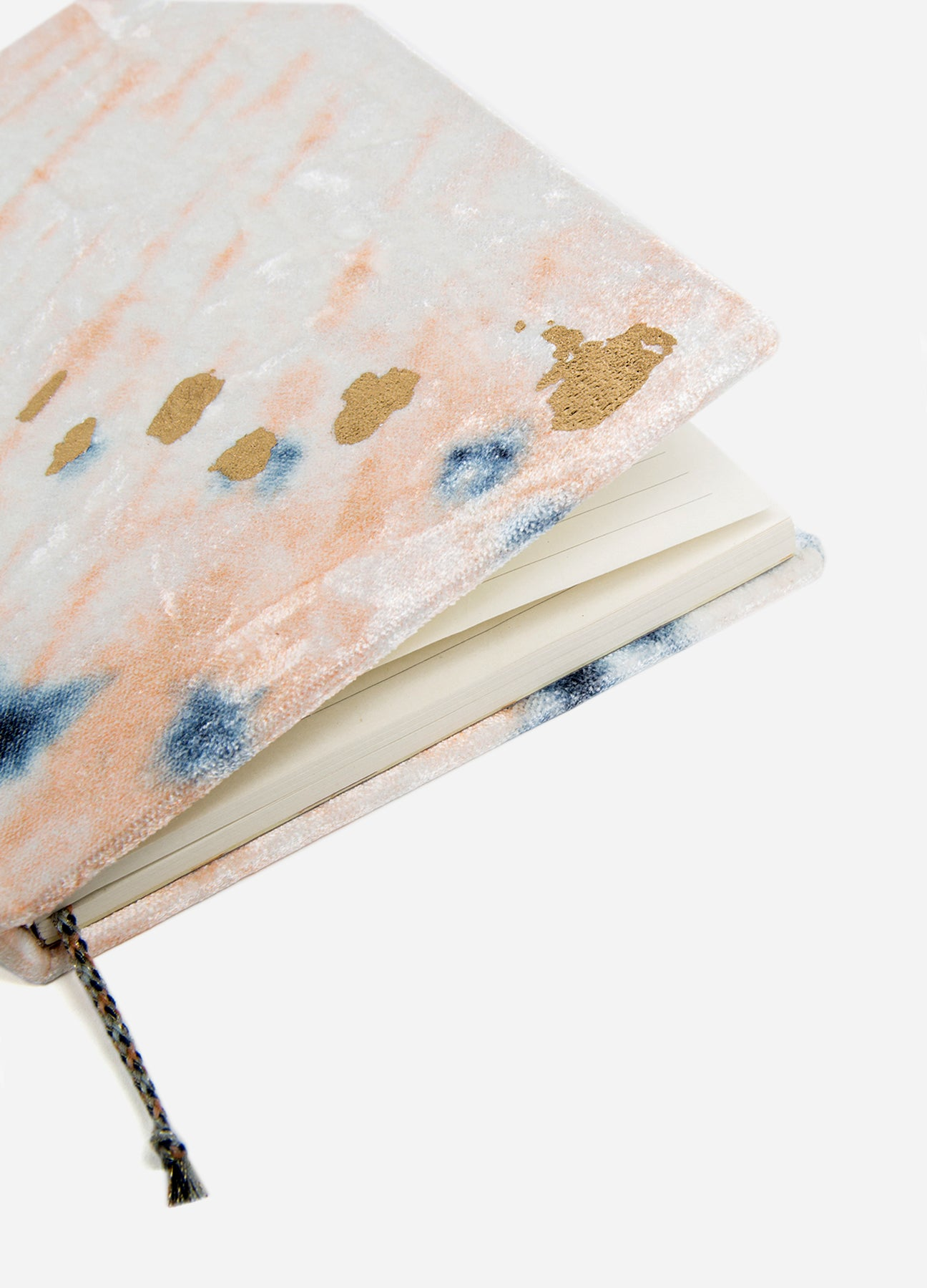 Diagonal Shibori - Slim Velvet Journal - Blush