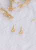 Diamond Triangle Stud Earrings