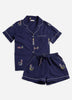 Daughters of Triton Short Sleep Set - Indigo