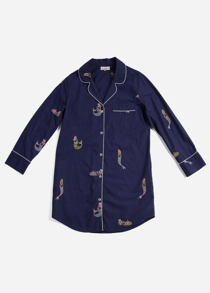 Daughters of Triton Sleep Shirt - Indigo