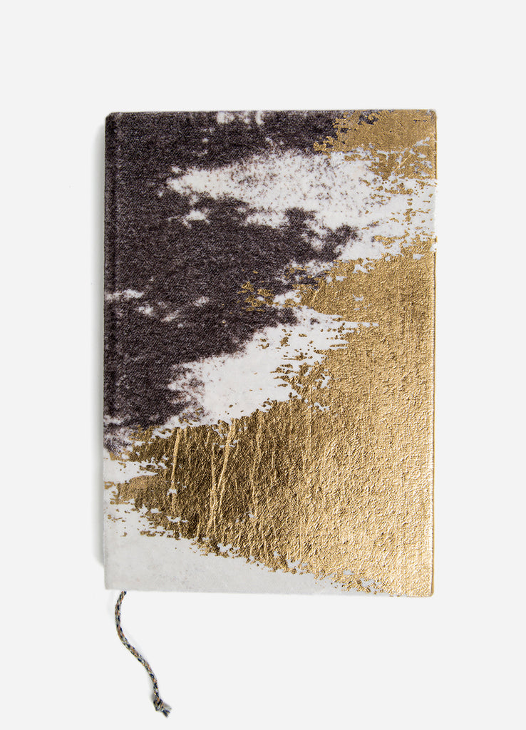 Gilded Shoreline Velvet Journal