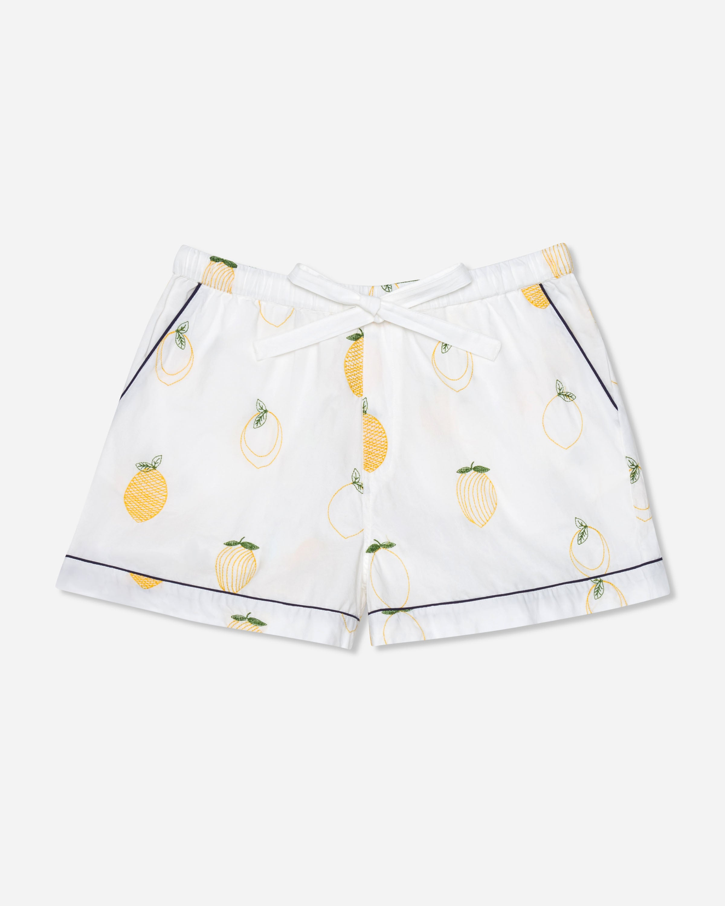 Lemon Drop - Pajama Shorts - Cloud