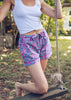 Flamenco Pajama Shorts - Fuchsia