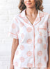 Sunrise Embroidered Short Sleep Set - Peach Cloud