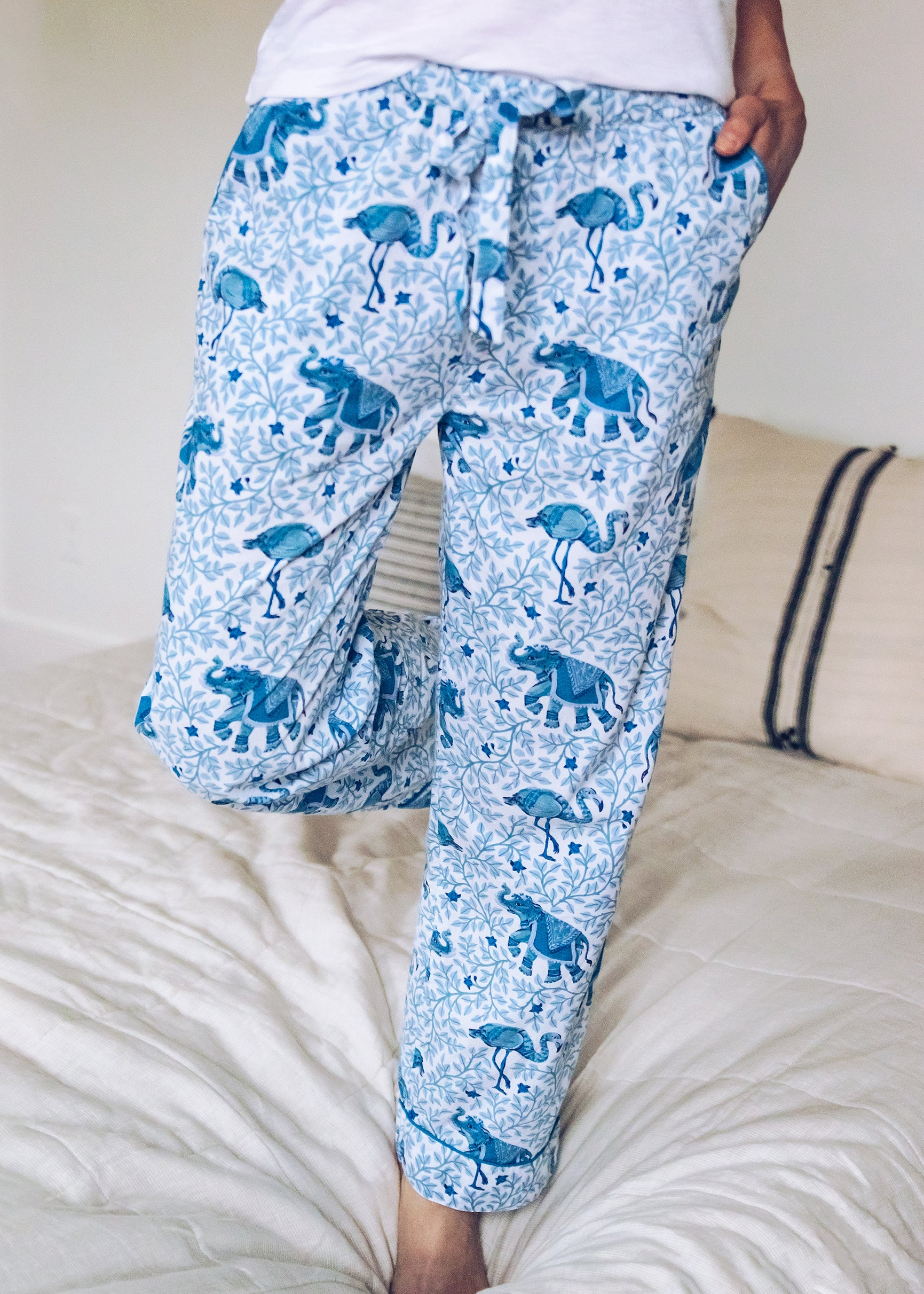 Flamenco - Pajama Pants - Pale Blue