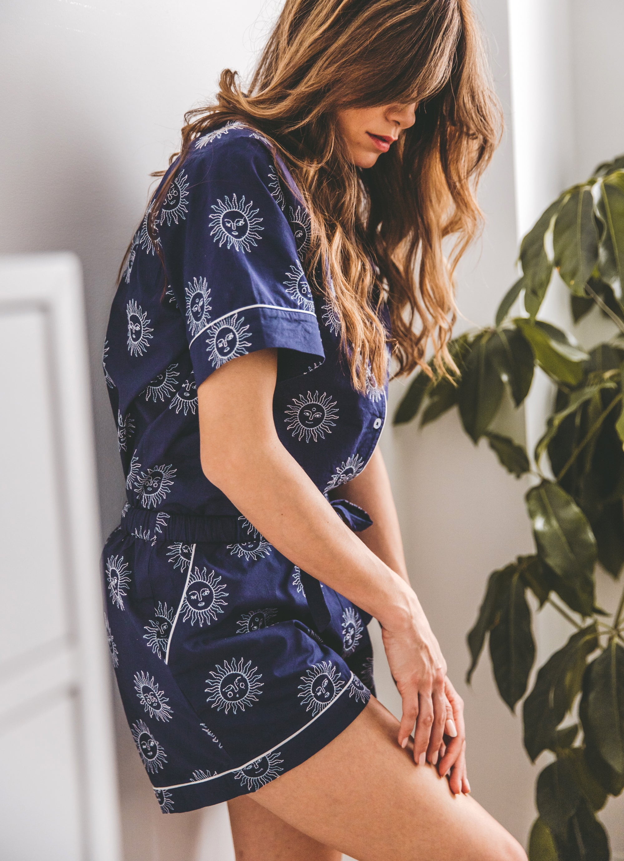 Sunrise - Short Sleep Set - Indigo