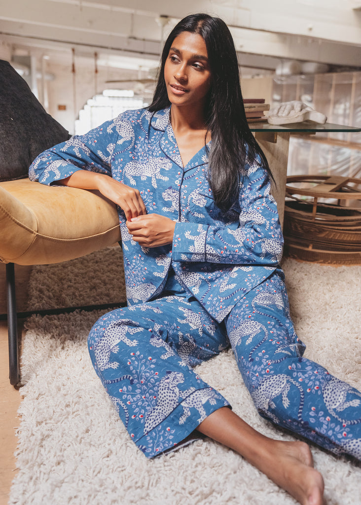 Bagheera Long Sleep Set - Indigo