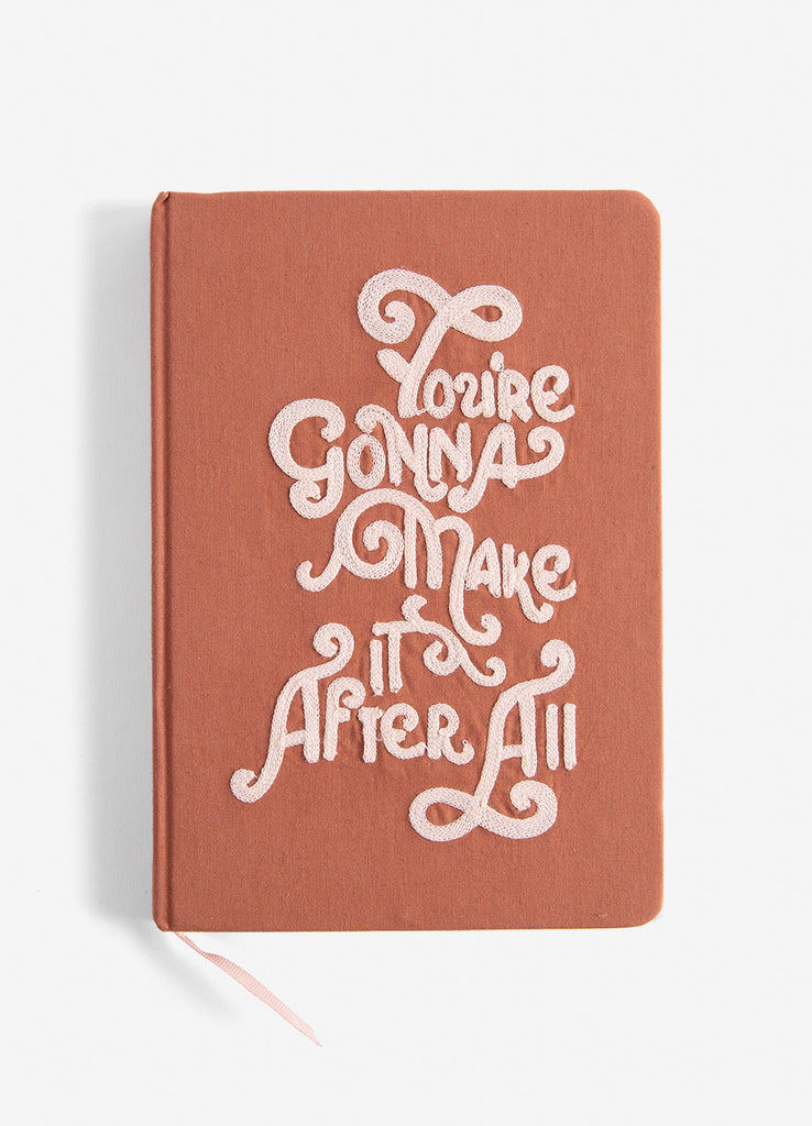 Gonna Make It Medium Embroidered Cotton Journal