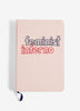 Feminist Inferno Medium Embroidered Cotton Journal
