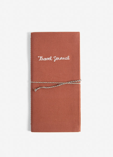 Embroidered Cotton Travel Journal