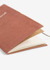 Embroidered Cotton Travel Journal - Rust
