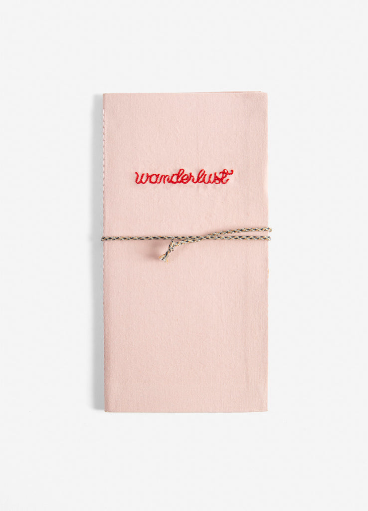 Embroidered Cotton Wanderlust Travel Journal