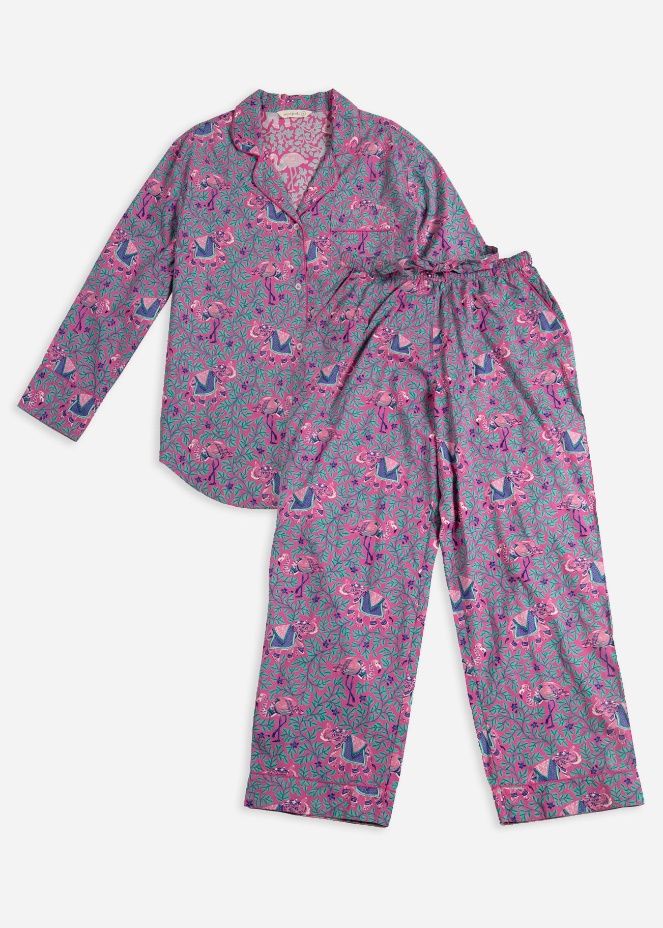 Flamenco - Long Sleep Set - Fuchsia