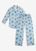 Flamenco Long Sleep Set - Pale Blue