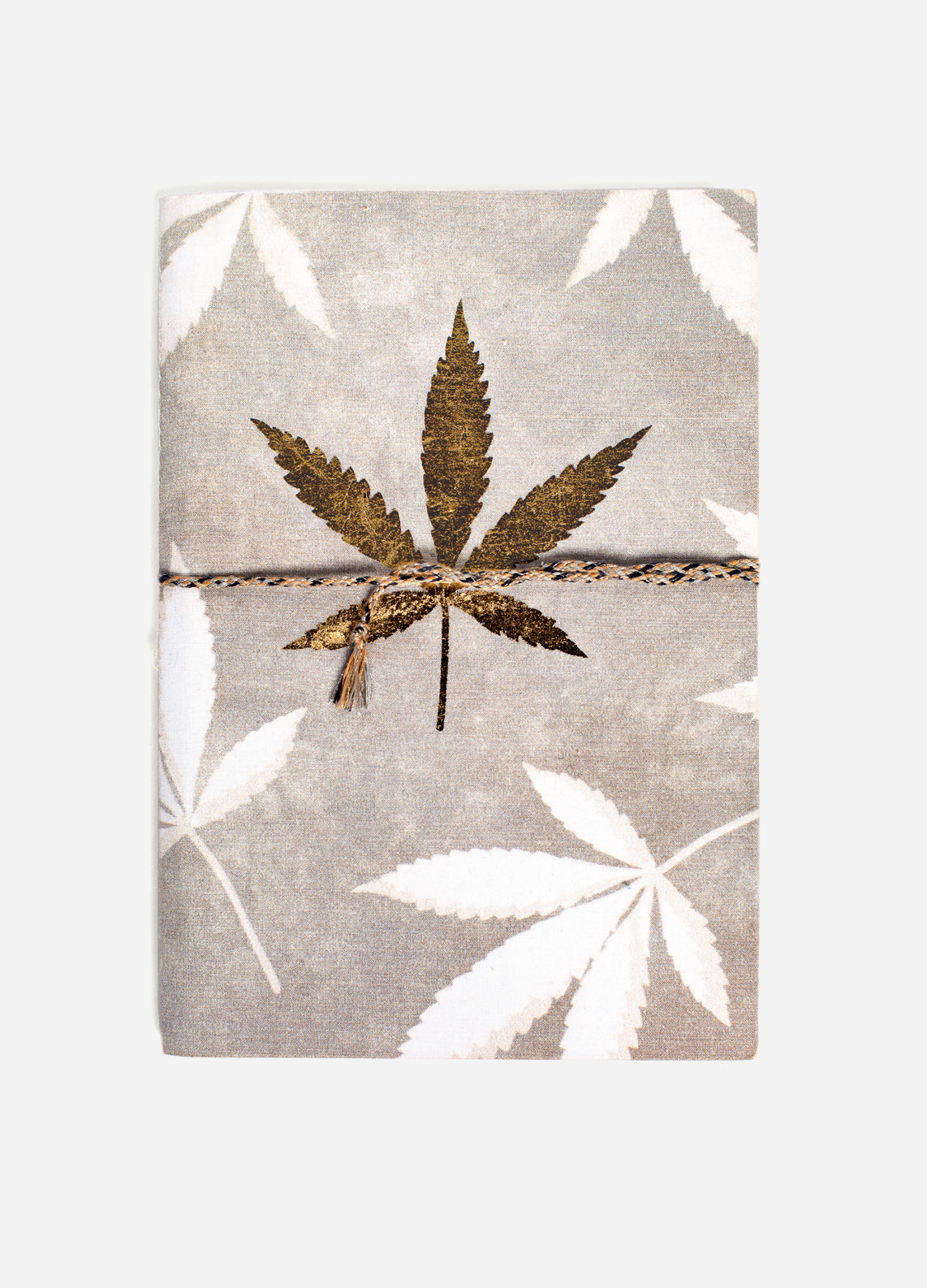 Just a Weed - Medium Cotton Notebook - Gold