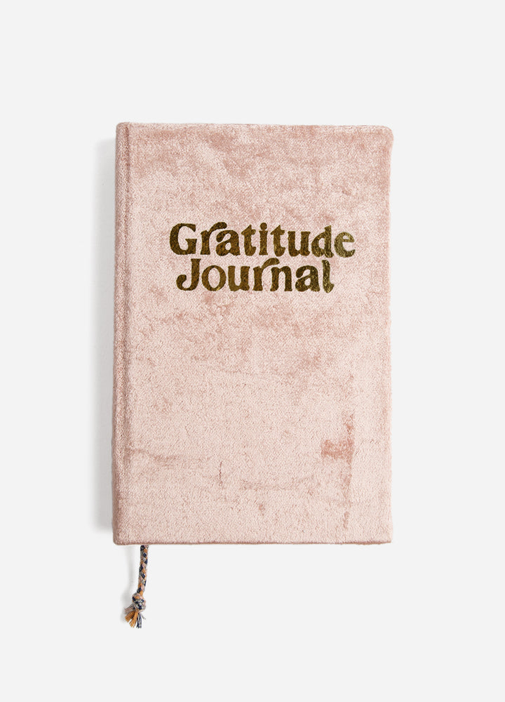 Velvet Gratitude Journal - Blush