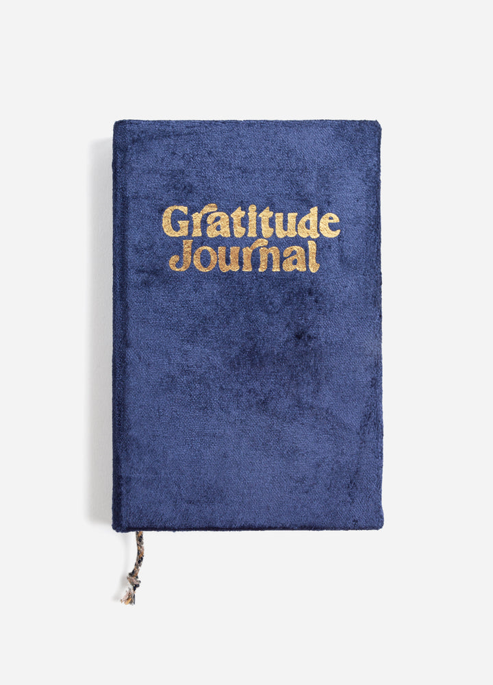 Velvet Gratitude Journal - Navy