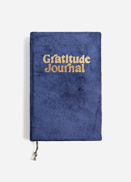 Navy Velvet Gratitude Journal