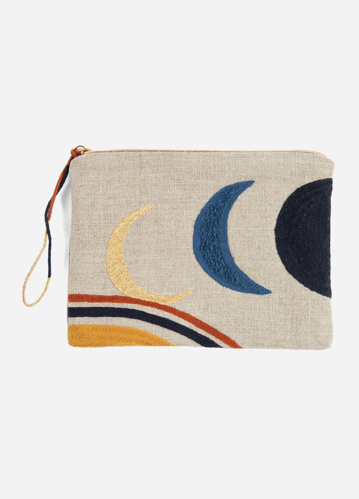 Embroidered Linen Pouch - Artemis
