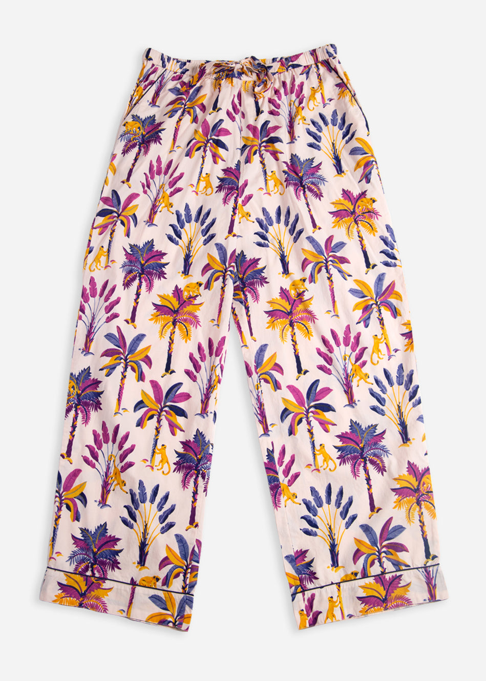 Royal Palms - Pajama Pants - Amethyst