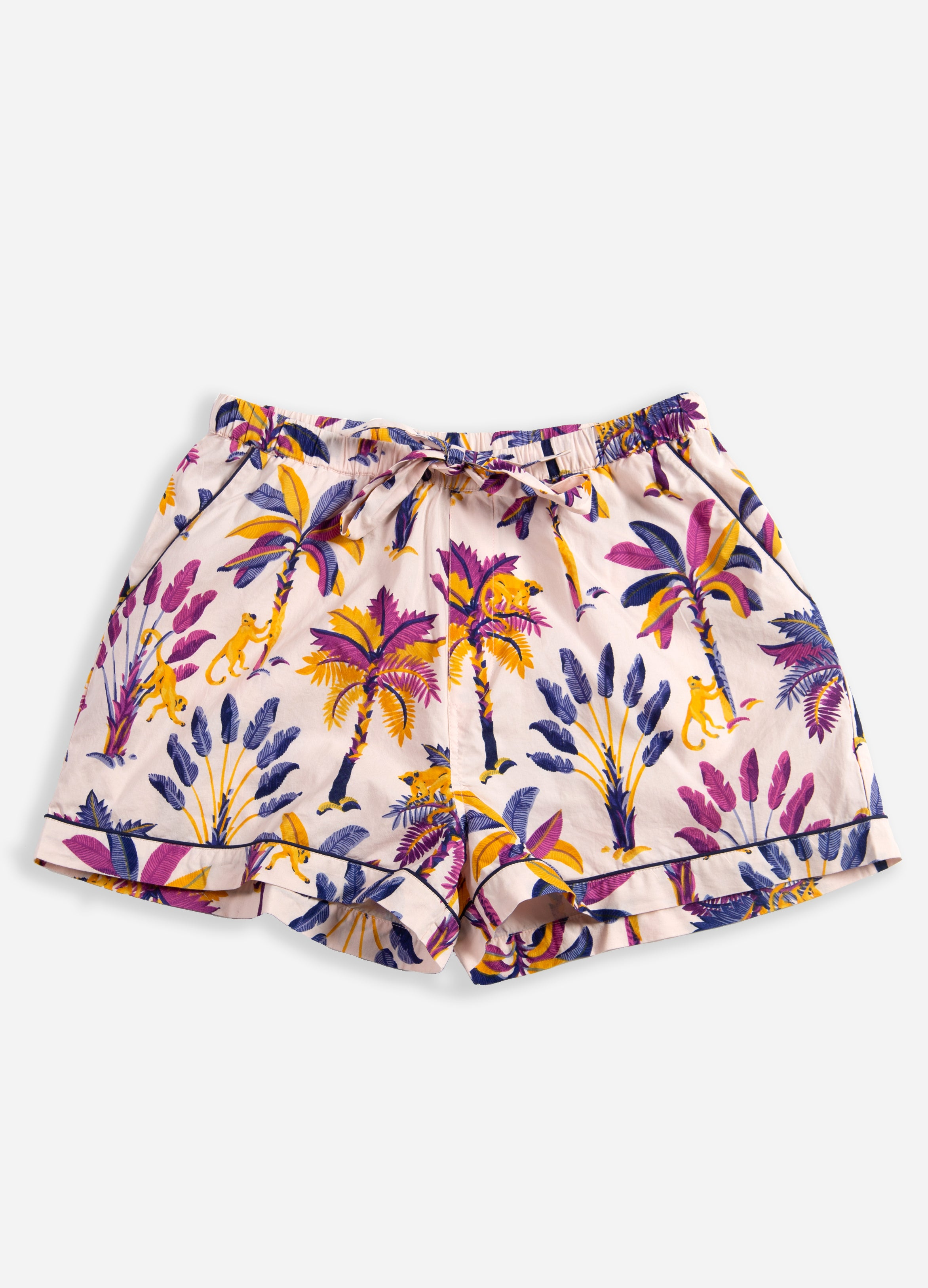 Royal Palms - Pajama Shorts - Amethyst