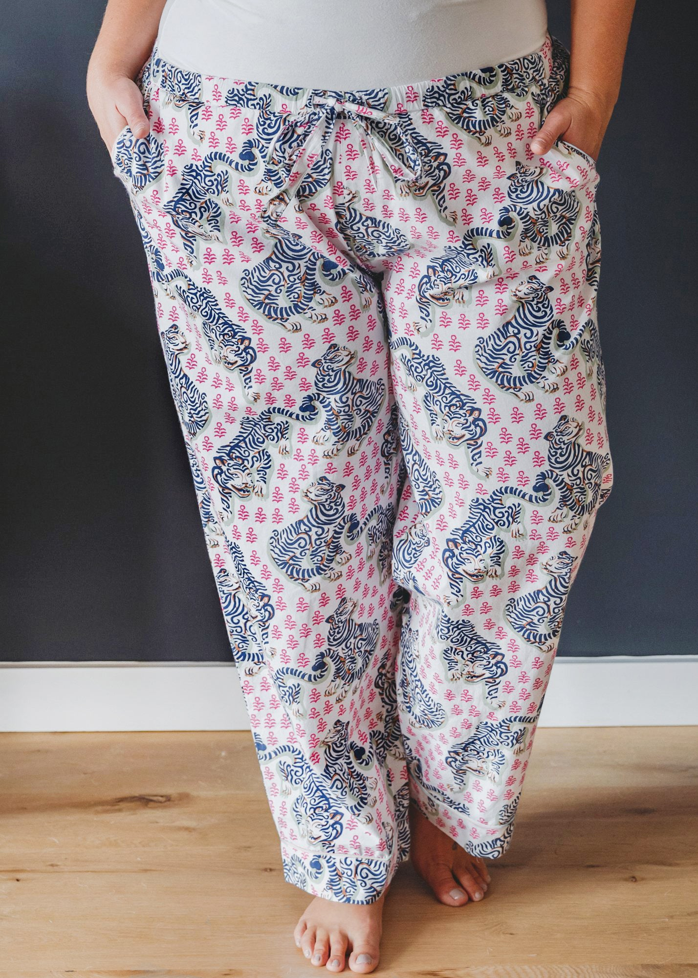 Tiger Queen - Pajama Pants - French Rose