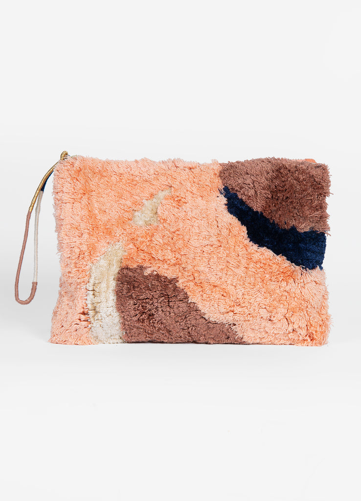 Flame Large Tufted Pouch
