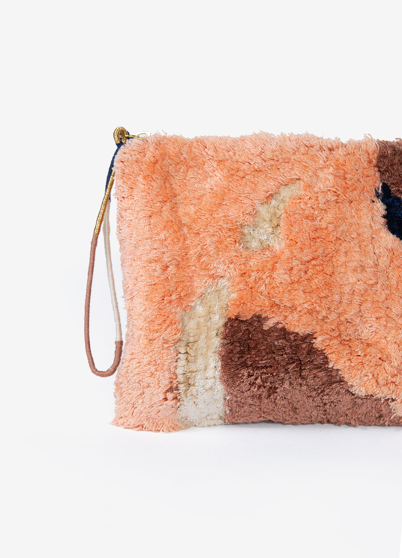 Flame - Large Tufted Pouch - Copper