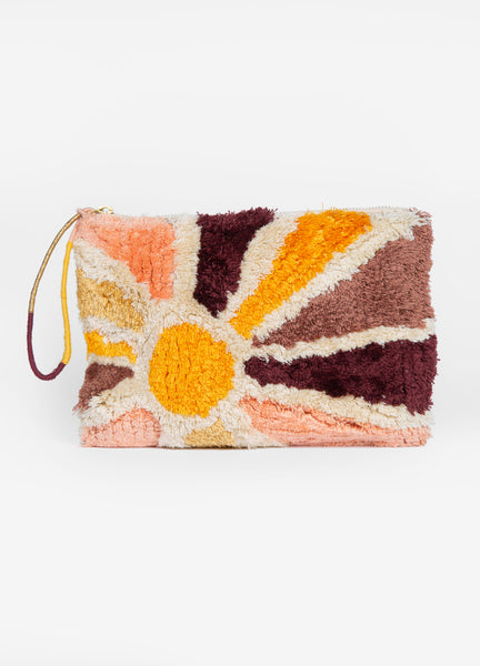 Sunburst Large Tufted Pouch