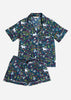 Unicorn's Garden Short Sleep Set - Indigo