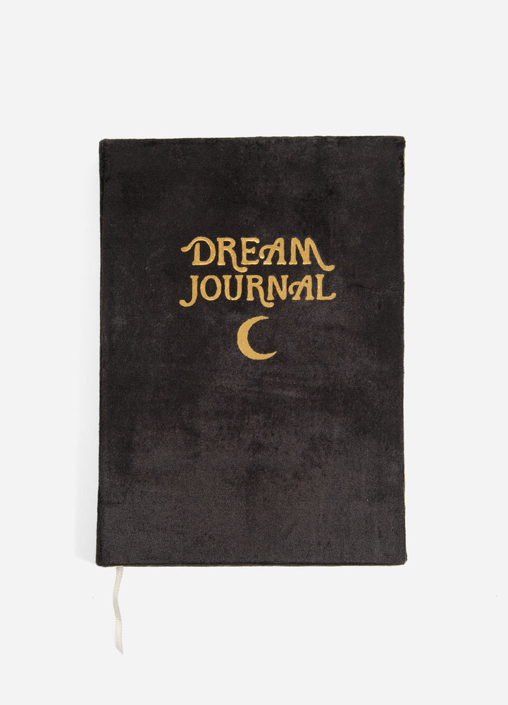 Velvet Dream Journal - Black Moon