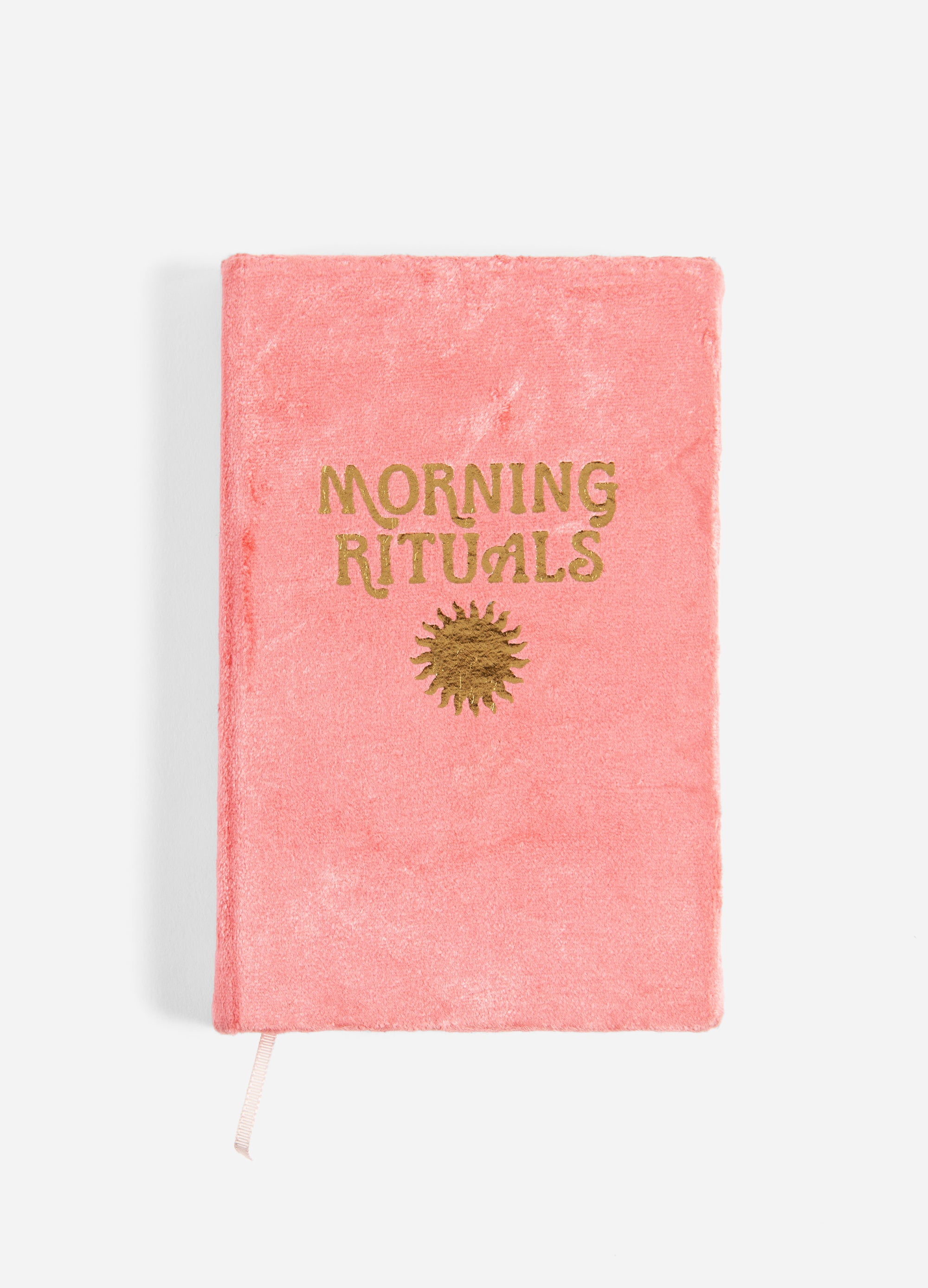 Morning Rituals - Velvet Mindfulness Journal - Coral