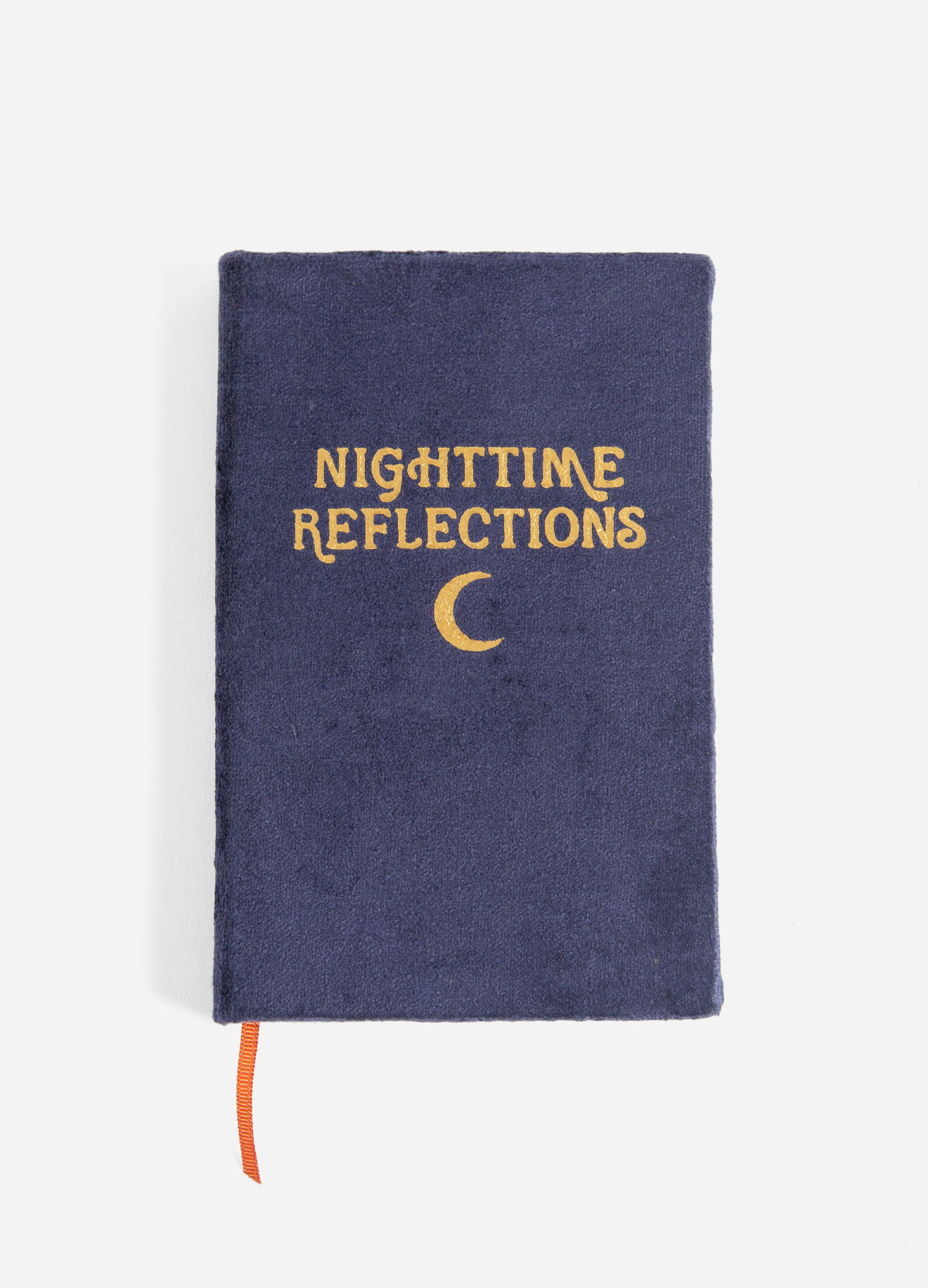 Nighttime Reflections - Velvet Mindfulness Journal - Navy