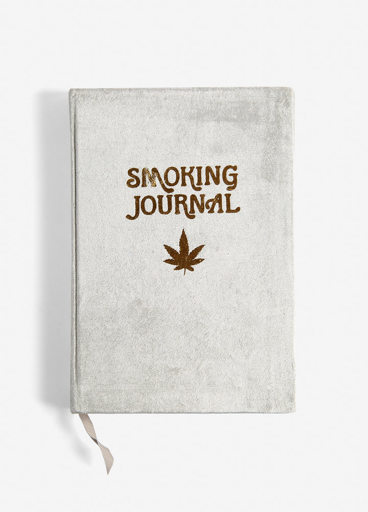 High Ideas Velvet Smoking Journal - Grey