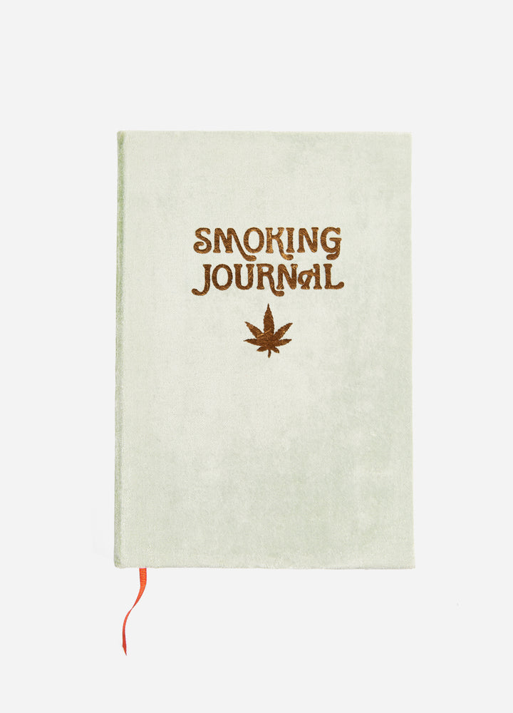High Ideas Velvet Smoking Journal - Pale Olive