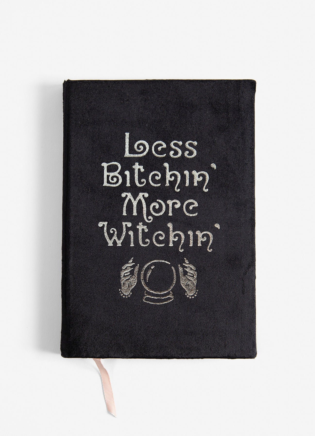 Less Bitchin' More Witchin' - Slim Velvet Journal - Black