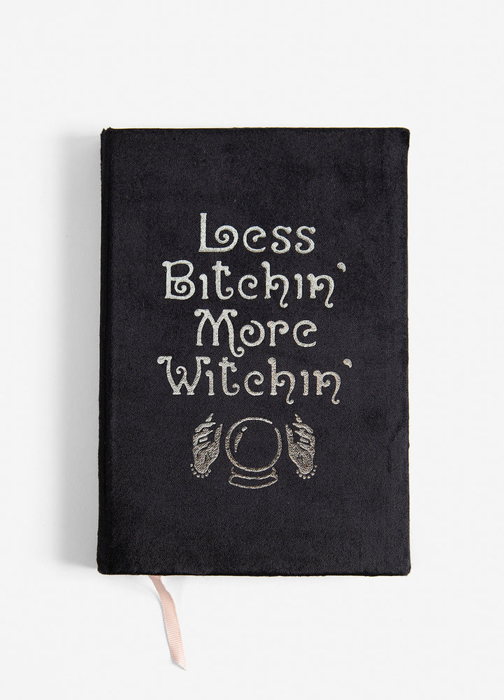 Less Bitchin' More Witchin' Slim Velvet Journal