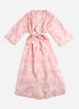 Water Lily Long Robe - Blush