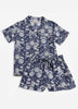 Water Lily Short Sleep Set - Indigo