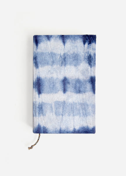 Shibori Stripe Small Velvet Journal
