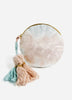 Blue + Blush Fade Velvet Small Round Pouch
