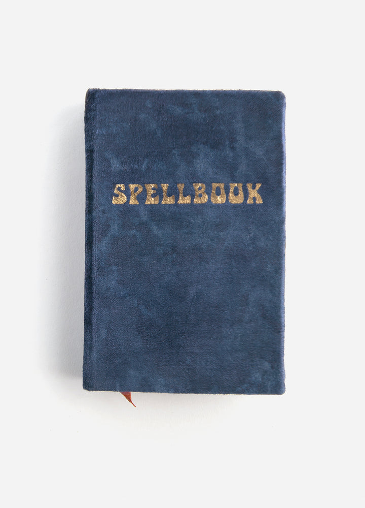 Spellbook Small Velvet Journal - Navy