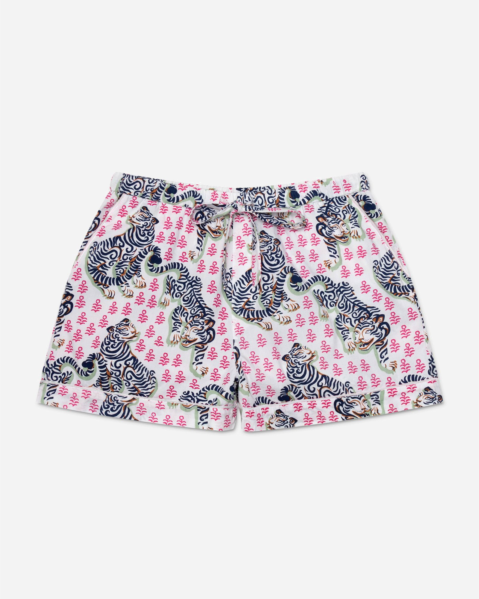 Tiger Queen - Pajama Shorts - French Rose