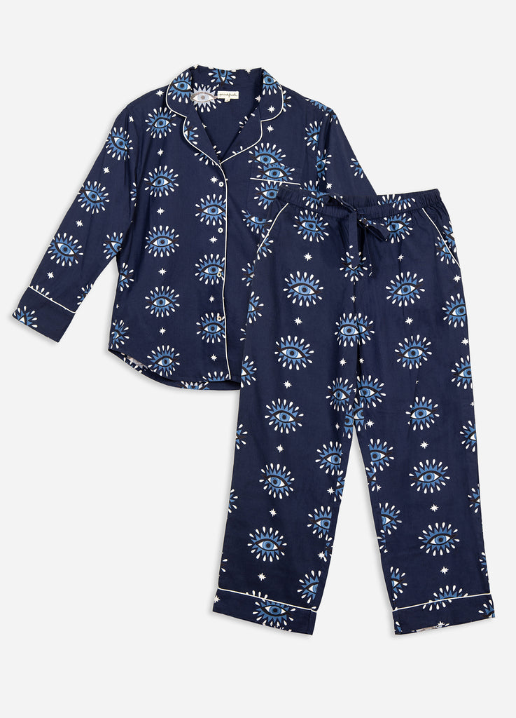 Eyes of the World Long Sleep Set - Navy