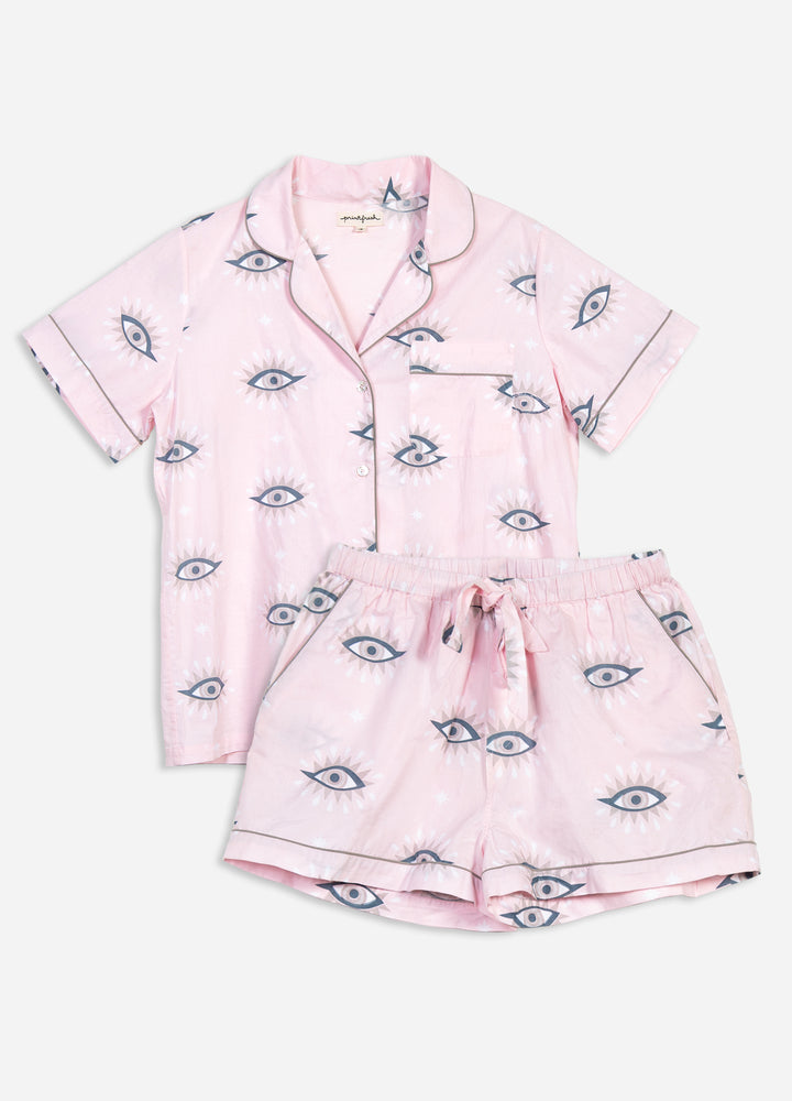 Eyes of the World Short Sleep Set - Blush