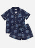Eyes of the World Short Sleep Set - Navy