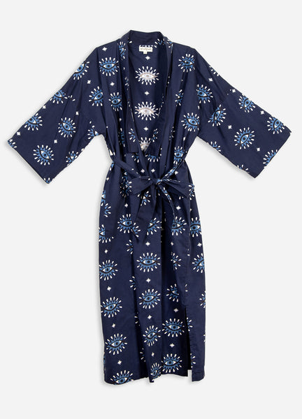 Eyes of the World Robe - Navy