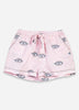 Eyes of the World Pajama Shorts - Blush